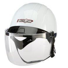 โปรโมชั่น Space Crownหมวกกันน็อครุ่นCt 801ครึ่งใบแว่นสีขาว ถูก