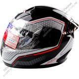 ราคา Spacecrown หมวกกันน๊อค Fighter Stk Wb001 หน้ากากใส เต็มใบ สีขาว ดำ Space Crown Thailand