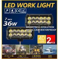 ซื้อ Speed Studio ไฟตัดหมอก ไฟสปอร์ตไลท์ Led 12 ดวง 4D Lens Light Bar ออฟโรด 4Wd Atv เรือ 3600 Lumen 2 ชิ้น 12V 24V