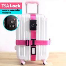 Spint สายรัดกระเป๋าเดินทาง Tsa Lock สีชมพู เป็นต้นฉบับ