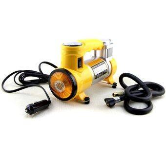 sport Air compressor ปั๊มลมติดรถยนต์ไฟฟ้า 12V (สีเหลือง)
