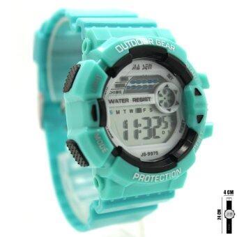นาฬิกา Sport Watch นาฬิกาข้อมือผู้หญิงและเด็ก ระบบดิจิตอล ทรงกลม สายยาง