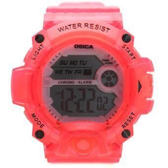 Sport Watch นาฬิกาข้อมือผู้หญิง-ผู้ชายและเด็กสไตล์สปอร์ต เปลี่ยนไฟดิจิตอลได้ 7 สี สายยาง ระบบ Digital - YS-001-003