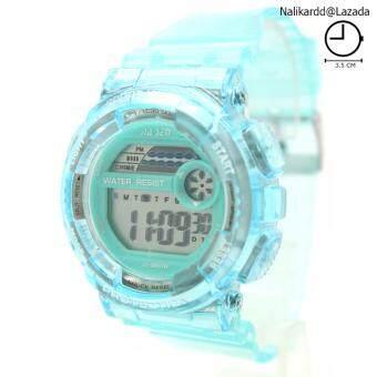 Sport Watch (Crystal Clear) นาฬิกาข้อมือผู้ชาย-ผู้หญิงและเด็ก สายยางใส ระบบ Digital SW-L3(สีฟ้าอ่อน)