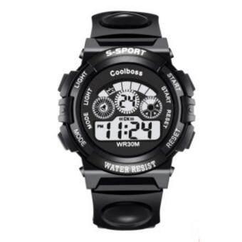 Sport Watch นาฬิกาข้อมือผู้ชาย-ผู้หญิงและเด็ก สายยางขาว ระบบ Digital
