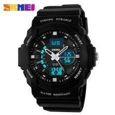 ขาย Sport Watch นาฬิกาแฟชั่น กันน้ำ ดิจิตอล สีดำ Dual Time Sport Fashion Waterproof Led Digital Men Watch Sport Watch เป็นต้นฉบับ