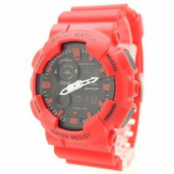 Sport Watch SAMDA (World Time) นาฬิกาข้อมือผู้ชาย-ผู้หญิงและเด็ก สายยาง 2 ระบบ Digital/เข็ม SMW-3