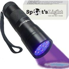 Spots Light Uv Blacklight Flashlight, Black 12 Led, Ultraviolet Pet Urine Stain Detector Finds Dog And Cat Pee On Carpets, Rugs, Any Floor Or Wall - Intl.