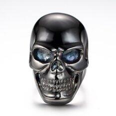 ขาย Stainless Steel Men S Skull Head Gothic Punk Biker Finger Ring Black Us 8 ถูก