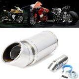 ส่วนลด Stainless Steel Motorcycle Elbow Exhaust Pipe Muffler Piping Tip 55Mm Inlet Dia 7 Long Intl