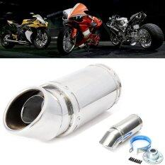 Stainless Steel Motorcycle Elbow Exhaust Pipe Muffler Piping Tip 55Mm Inlet Dia 7 Long Intl ใน จีน