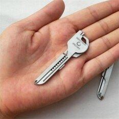 สแตนเลส Utili กุญแจ 6 ใน 1 พวงกุญแจ Edc หลายเครื่องมือไขควงที่เปิด - นานาชาติ.