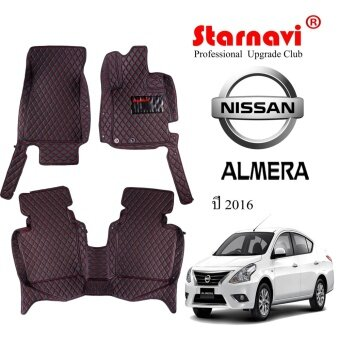 Starnavi พรมปูรถยนต์ นิสสัน Nissan ALMERA สีดำ15-16