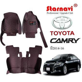Starnavi พรมปูรถยนต์ โตโยต้า คัมรี่ Toyota Camry สีดำ 14-16