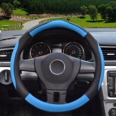 ราคา Steering Wheel Covers 14 56 14 96 Pu Leather Blue M Intl Yingjie เป็นต้นฉบับ
