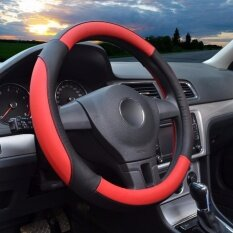 ราคา Steering Wheel Covers 14 56 14 96 Pu Leather For Honda Toyota Vehicles Red M C0006 Intl ใหม่ล่าสุด