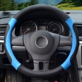 Steering Wheel Covers 39 40Cm Pu Leather Black And Blue Size L Intl เป็นต้นฉบับ