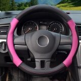 ซื้อ Steering Wheel Covers 39 40Cm Pu Leather Black And Rose Size L Intl ถูก จีน