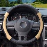 ซื้อ Steering Wheel Covers Diameter 15 Inch 39 40Cm Pu Leather For Full Seasons Black And Beige Size L Intl