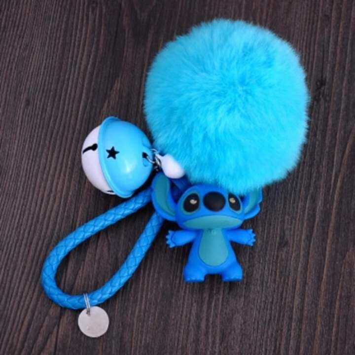 ซ อท ไหน Stitchy Cute Cartoon Car Keychain Stitch Couple Key Chain