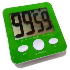 ราคา ราคาถูกที่สุด Stopwatch Fitness นาฬิกาจับเวลา ดิจิตอล เหมาะสำหรับออกกำลังกายนับเซท สีเขียว