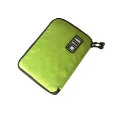 ราคา Storage Organizer Bag Case Digital Usb Cable Earphone Pen Travel Insert Portable Green ถูก