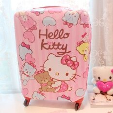 Stretchable Elasticity Travel Luggage Suitcase Protective Cover-S (pink) - Intl.