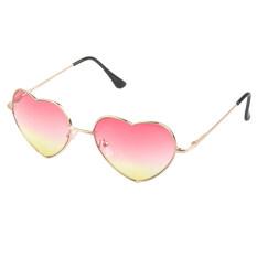 ราคา กรอบแว่นสไตล์สาวโลหะรูปทรงเลนส์แว่นตาแว่นตาหัวใจรักสีชมพู Unbranded Generic