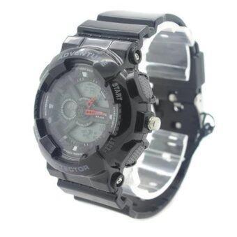 Submariner นาฬิกาข้อมือผู้หญิงและเด็ก สายยาง 2 ระบบ (เข็มและDigital)- SS20018 (Black)