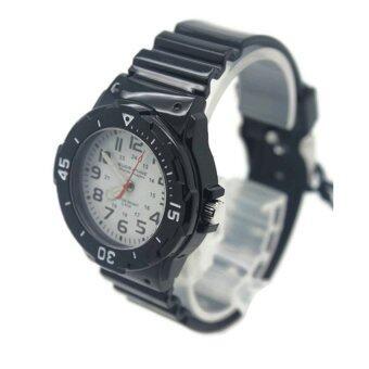 Submariner นาฬิกาข้อมือผู้หญิงและเด็ก สายยาง ระบบเข็ม - S0026 (Black-White)