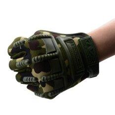 ความคิดเห็น Summer Half Finger Breathable Gloves Riding Equipment Motorcycle Anti Skid Gloves Tactical Gloves Camouflage Intl