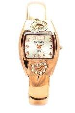ราคา Sunday นาฬิกาข้อมือผู้หญิง สายสแตนเลส รุ่น Cansnow สีทอง ใหม่