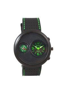 Sunday นาฬิกาข้อมือผู้ชาย สายเรซิ่น รุ่น Senjue - สีดำ/เขียว