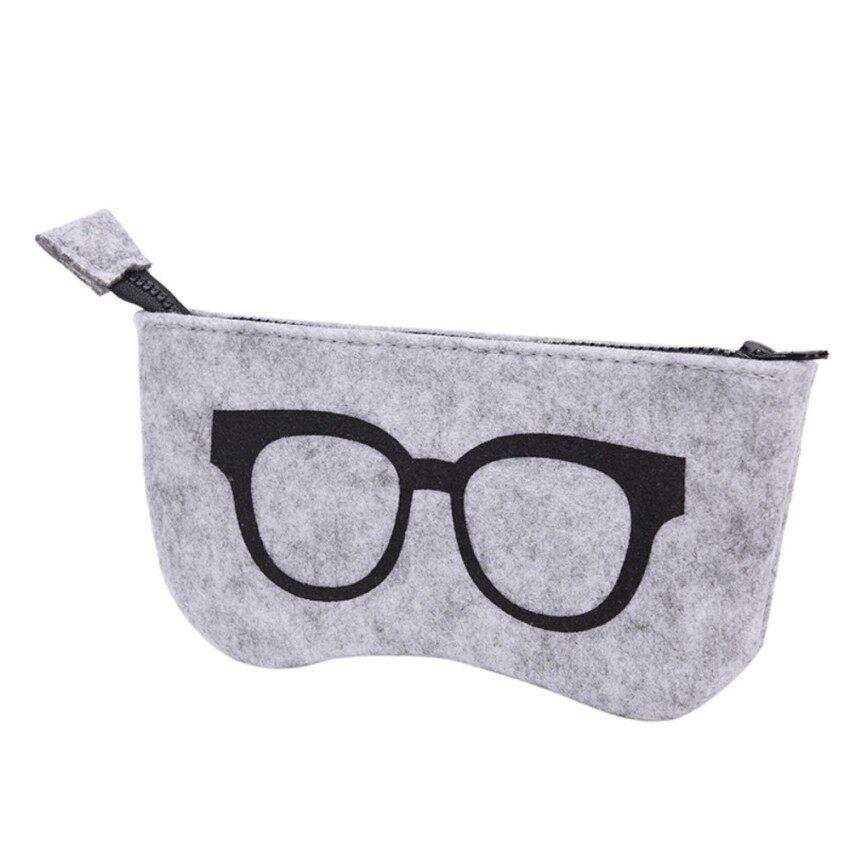 f75e1b470879 Sunglasses Case For Women Men Glasses Box Felt Sunglasses Bag Eyeglasses  cases Black - intl