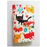 ซื้อ Sunitara กระเป๋าใส่สมุดบัญชีฯ ลายแมว พื้นขาว ลาย 2 ออนไลน์