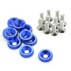Sunshop 10pcs M6 X 20 Car Styling Universal Modification Fender Washer License Plate Bolts 6 Colors Auto Accessories ( Blue ) - Intl.