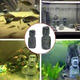 โปรโมชั่น Sunshop Novelty Gift Mini Easter Island Face Statue Aquarium Fish Tank Ornament Table Desk Decoration S Intl Sunshop ใหม่ล่าสุด