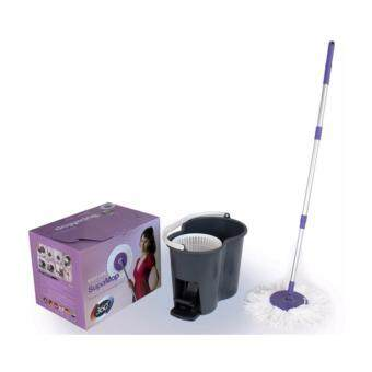 Supa Mop EASY 1 ชุดถังปั่นไม้ม๊อบ พร้อมผ้าไมโครไฟเบอร์ ( แบบขาเหยียบ )