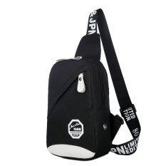 ซื้อ Super Meกระเป๋าสะพายไหล่ กระเป๋าคาดอก สีดำ ถูก