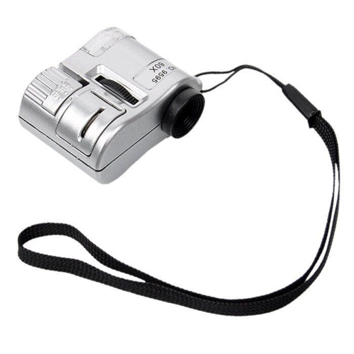 ราคา Supercart 60X Zoom Led Lighted Pocket Microscope Intl จีน
