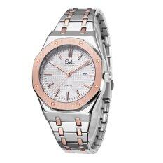 ราคา ราคาถูกที่สุด Svl นาฬิกาข้อมือผู้ชาย กันน้ำ 100 รุ่น Gp80333 P Rose Silver M แถมซองนาฬิกาสุดหรู