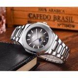 ส่วนลด ฟรี กล่องเซ็๖สุดหรู Svl Date Quartz นาฬิกาข้อมือผู้ชาย มีวันที่ กันน้ำ 100 รุ่น Gp80330 Deep Grey Silver Sevenlight