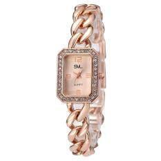โปรโมชั่น Svl นาฬิกาข้อมือผู้หญิง สไตล์แบรนด์หรู แถมกล่องสวยหรู รุ่น J 116 Pink Sevenlight