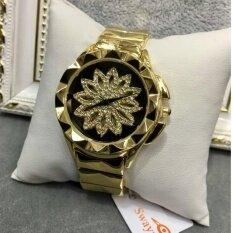 ราคา Swaymond 100 นาฬิกาข้อมือผู้หญิง เสริมสิริมิงคล ข้างในหมุนได้ ออนไลน์