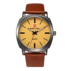 ขาย Swiss Army 8212 Men S Exquisite Comfortable Belt Watch Light Brown Face Intl ผู้ค้าส่ง