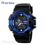 ซื้อ Swiss Sports Watch นาฬิกาข้อมือ นาฬิกาข้อมือผู้ชาย กันน้ำ No 0109 Blue ใหม่ล่าสุด