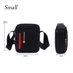 Swissgear Sa5008 Model Small Leisure Travel Business Outdoor One Shoulder Bag Black ใหม่ล่าสุด