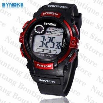 Synoke 99569 นาฬิกาข้อมือนาฬิกานักกีฬาว่ายน้ำด้วย led แบล็คไลท์