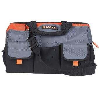 Tactix 323143 Gate Mouth Tool Bag กระเป๋าช่าง กระเป๋าเครื่องมือช่าง กระเป๋าเครื่องมือ กระเป๋าใส่เครื่องมือช่าง 16''  (สีดำ/สีส้ม) - ขนาด  40.5 x 28 x 30.5cm (16 x 11 x 12 in.)