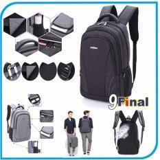 ขาย Taikkss กระเป๋าโน๊ตบุ๊ค เป้โน๊ตบุ๊ค รุ่น 3306 By 9Final แบบสะพายหลัง ขนาด 14 16 นิ้ว Bagkpack Labtop Bag Notebook Bag สี ดำ ถูก ใน ไทย